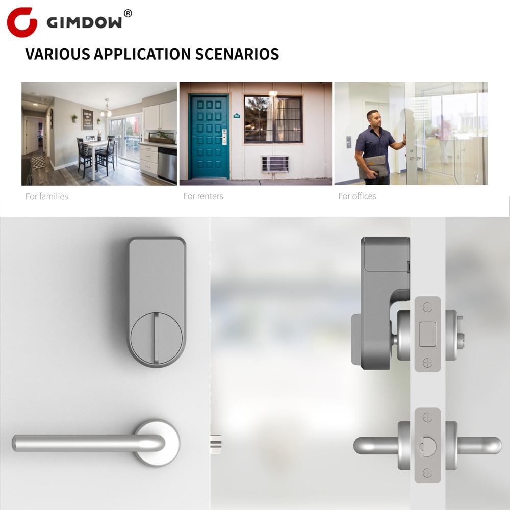 Умный Замок GIMDOW Tuya с цифровым паролем, совместим с Bluetooth, интеллектуальная установка стикеров в отель, квартиру, умное приложение