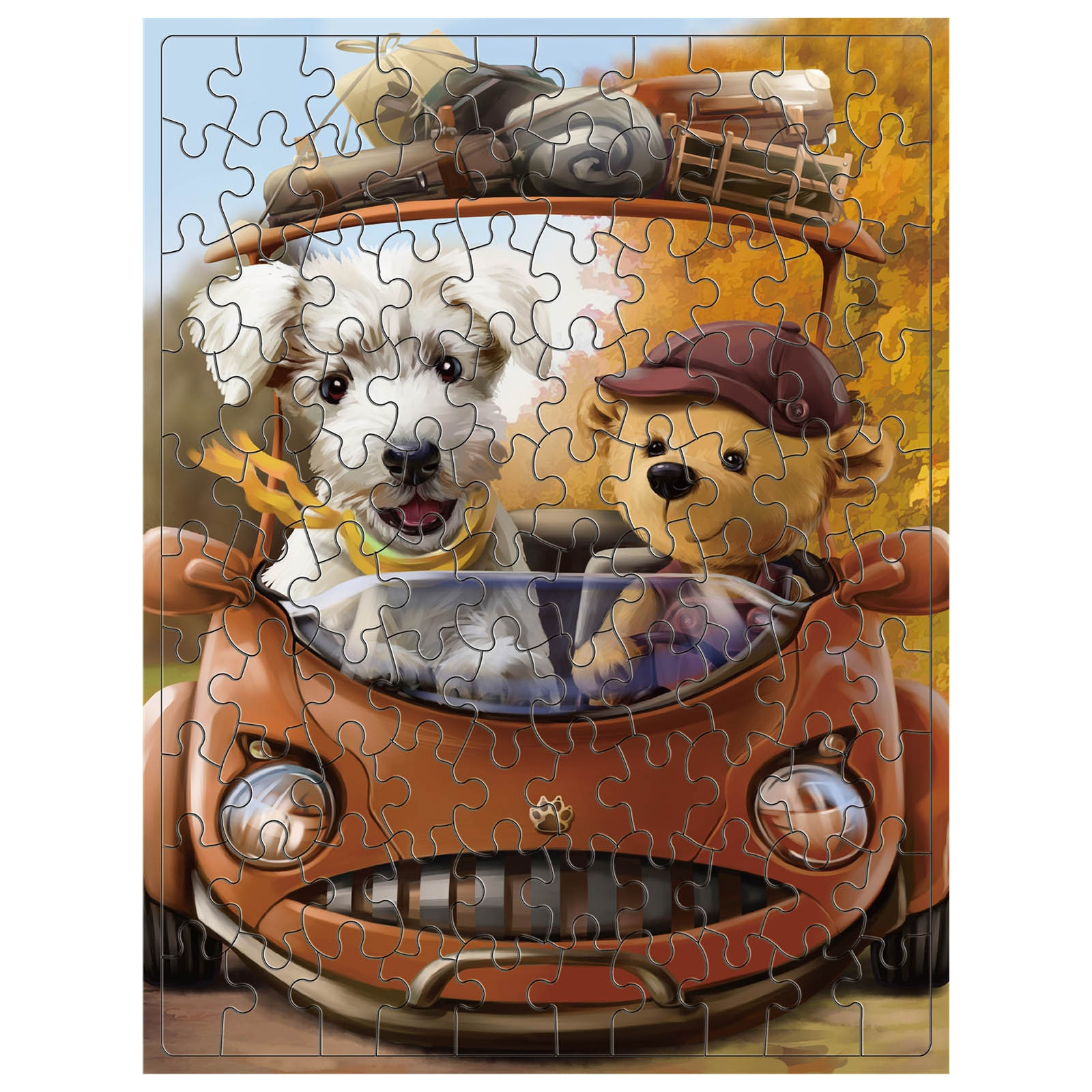 HIINST 100 Pieces Children Educational Jigsaw Puzzle Cartoon Animal Landscape Oil Painting Puzzle Toy Adult Game детские игрушки