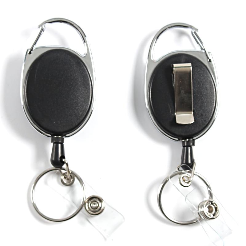 Customizable Retractable Key Chain Badge Reel Lanyards Id Badge Holder Badge Clip Name Tag Bage Holder Lanyard  Stationery