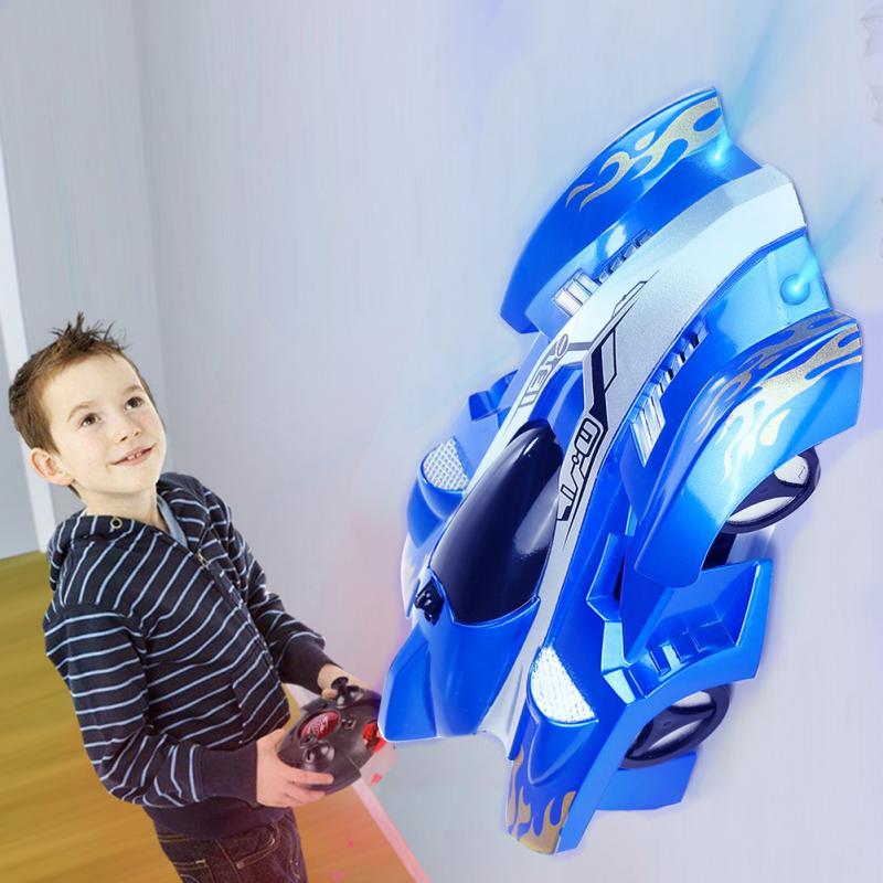 Новые игрушки для гоночного автомобиля с дистанционным управлением на стену и потолком, Игрушечная модель автомобиля, рождественский пода...