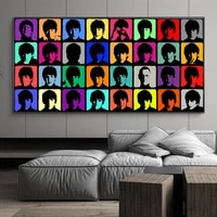 big size canvas painting andy warhol figure poster oil painting on prints wall pictures for living room cuadros home decoration