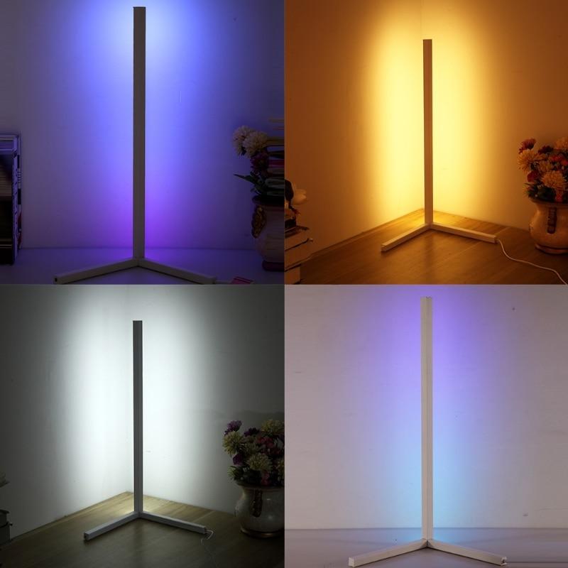 Nordic Creativity Corner LED Floor Lamp Coloful Light Atmosphere Lighting for Bedroom Club Home Standing