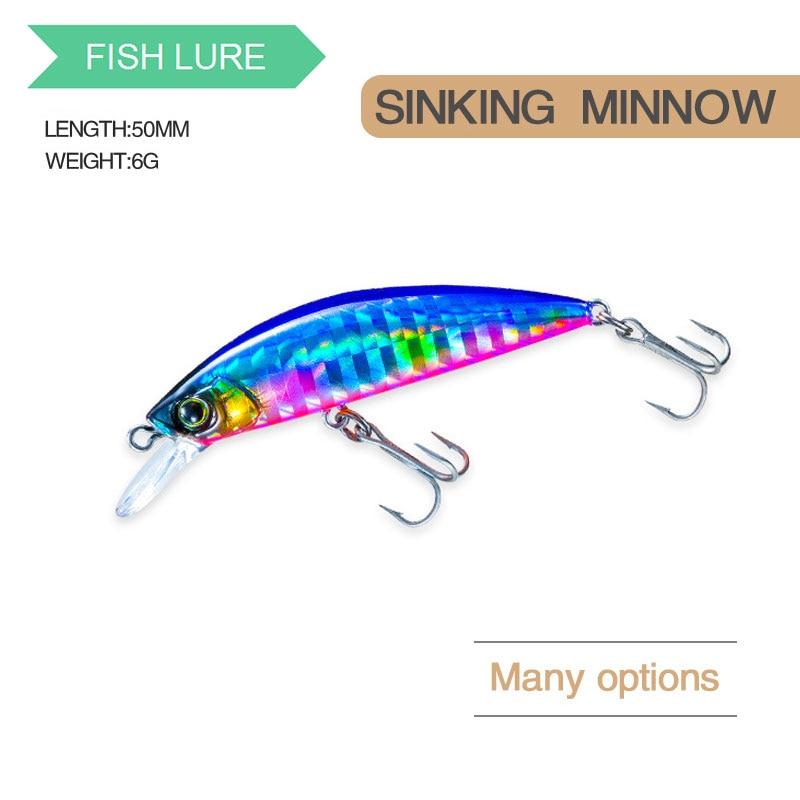 Minnow Fishing Lure 8.5Cm 8G  Wobblers SinKing Swimbait Artificial Hard Baits glow in the dark  Bass Carp Fishing Accessories