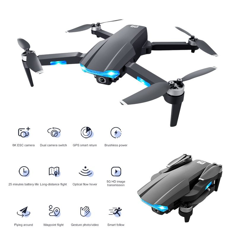 Drones UAV GPS Positioning Intelligent Return Drone 6K Aerial Photography Dual Quadcopter With Camera remote Control Helicopter