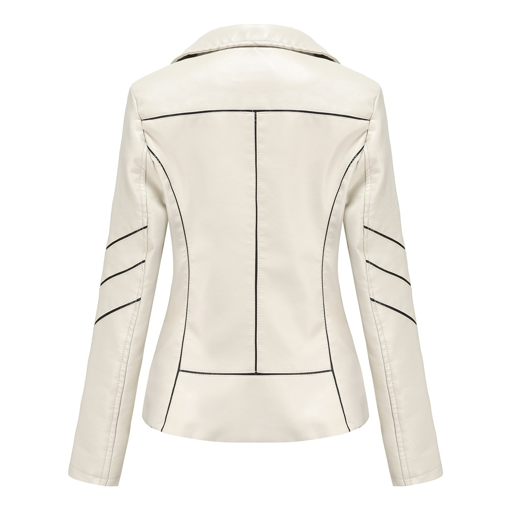 2020 Foreign Trade Leather Coat Women's Thin PU Short Coat Spring and Autumn Jacket Motorcycle Wear Women's New enlarge