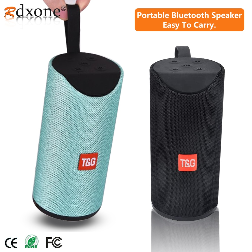 5,0 Altavoz Bluetooth portátil al aire libre altavoz inalámbrico Mini columna 3D estéreo música Surround compatibilidad con FM TFCard Bass Box