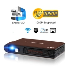 Caiwei S6W Portable Pocket Mini 3D DLP Projector LED Support Full HD Video WIFI Mobile Beamer Smartp