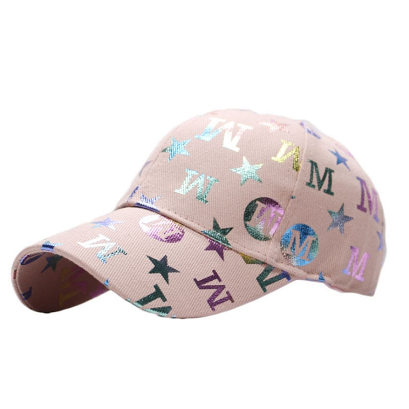 New Letter M Star Print Face Cap Hats For Men Women Color Baseball Caps Summer Outdoor Sports Shade Visor Hat Casquette