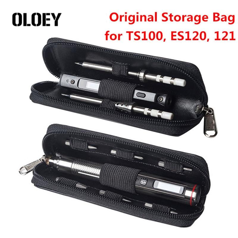 Оригинальная Портативная сумка для хранения мини TS100 TS80 паяльник ES120 ES121 ES121v отвертка чехол для переноски водонепроницаемый Органайзер