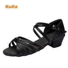 Brand Children Latin Dance Shoes Ballroom Salsa Tango Low Heels Dancing For Kids Girls Shoe Zapatos De Baile Latino Mujer L36