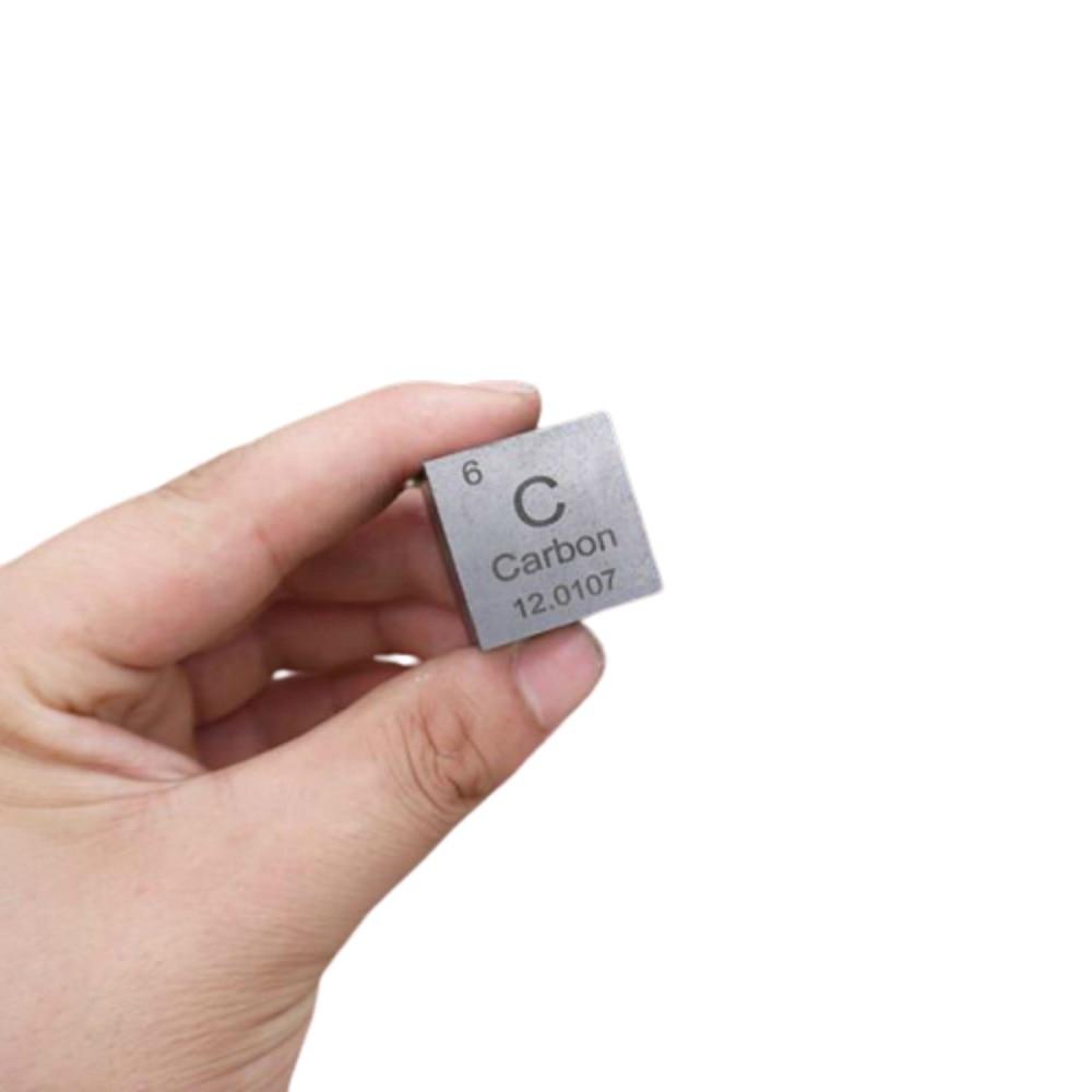Cubo de densidad de carbono de 1 pulgada 25,4mm 99.9% puro para colección de elementos