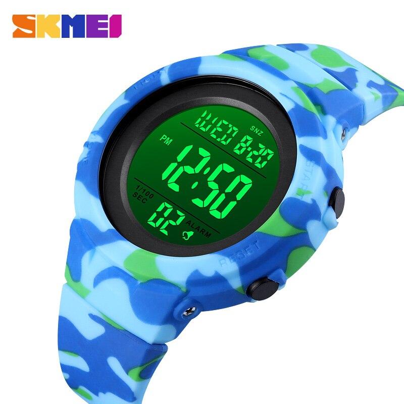 SKMEI детские часы Ourdoot спортивные студенческие цифровые часы многофункциональные водонепроницаемые камуфляжные наручные часы для мальчико...