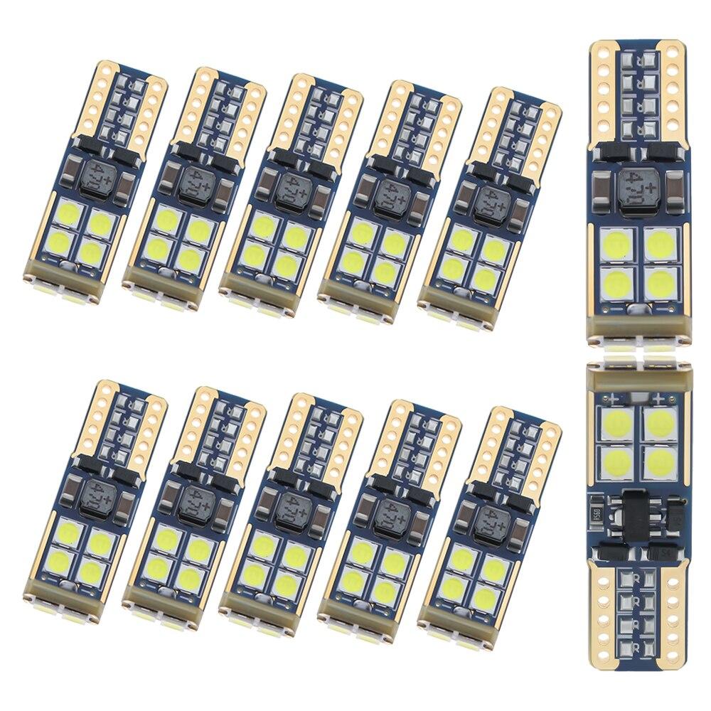 100pcs T10 10smd LED light bulb car no error 3030 12V Super bright clearance bulb t10 6led lamp white yellow blue red Purple