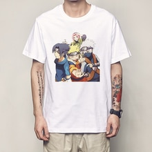 Naruto T Shirt Mode Sommer Männer T-shirt Naruto Shirt Klassische Anime Charakter Bild Männer Tops Tees Harajuku Streetwear T hemd