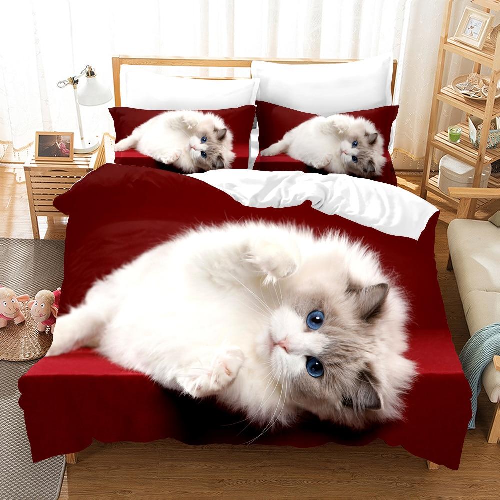 طقم سرير Kawaii لطيف تصميم المنسوجات المنزلية الكبار الفتيات الاطفال Aniaml Duver مجموعة غطاء المعزي لينة يغطي مع المخدة