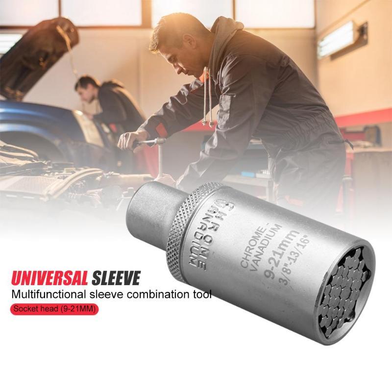 Chave de torque universal cabeça conjunto soquete manga 7-19mm/9-21mm/11-32mm broca de energia catraca bucha ferramenta multi mão