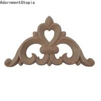 ornamental retro decor antique rose flower wooden cabinet doors corner wood applique wood decal wood craft wooden mouldings