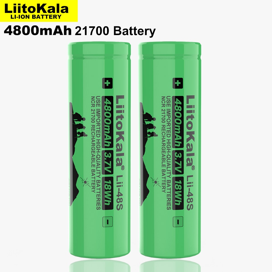 1-12Pcs LiitoKala Lii-48S 3.7V 4800mAh li-lon Rechargeable Battery 9.6A power 2C Rate Discharge ternary lithium batteries