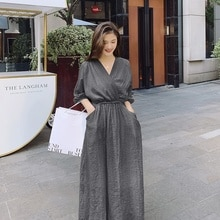 Spot Goods ~ 21 New Dress Elegant Tied Solid Color Dress Women