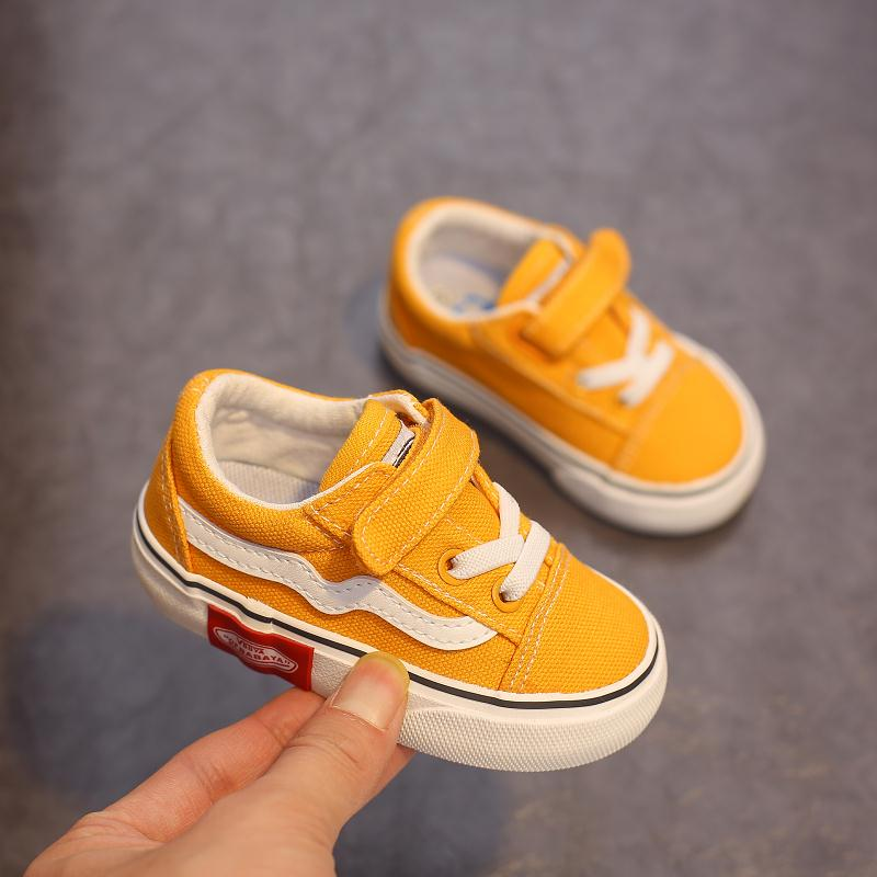 Babaya Baby Shoes Soft Bottom Boy Casual Shoes 1-12 Years Old 2021 Autumn Children Canvas Shoes Kids Girls Walking Shoes Toddler