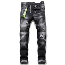 2021 Dsquared2 new trend fashion men's jeans embroidery tight spring and autumn men's jeans DSQ