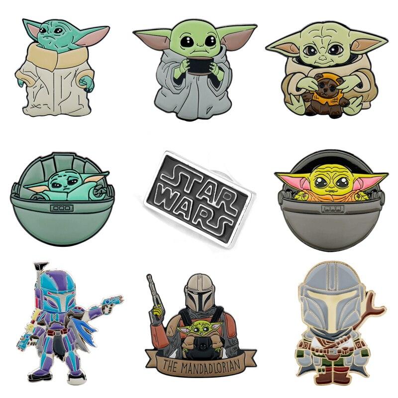 Broche de Star Wars de 23 estilos, Pin Master Yoda, Stormtrooper, Darth Vader, broches, insignias, broche de solapa para hombres, joyería creativa de película