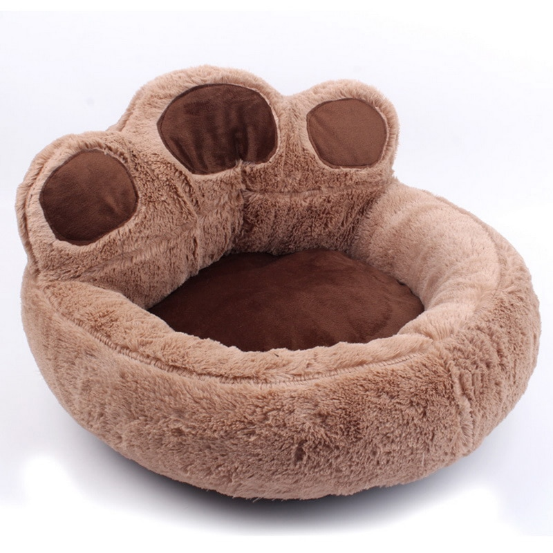 Oso pata de lana invierno cálido perro cachorro de gato para mascota Mat cojín perreras suave almohadilla cama casa nido lavable perro pequeño