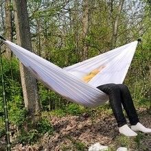 Bleu blanc rose balançoire Parachute extérieur hamac balançoire lit Rede Camping