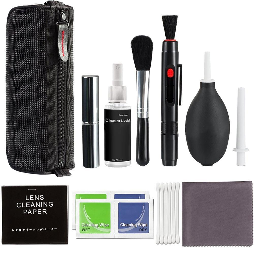 Kit profesional de limpieza de cámaras de lentes DSLR, equipo de botella de pulverización, bolígrafo, cepillo, soplador, Herramientas de limpieza para cámaras digitales prácticas