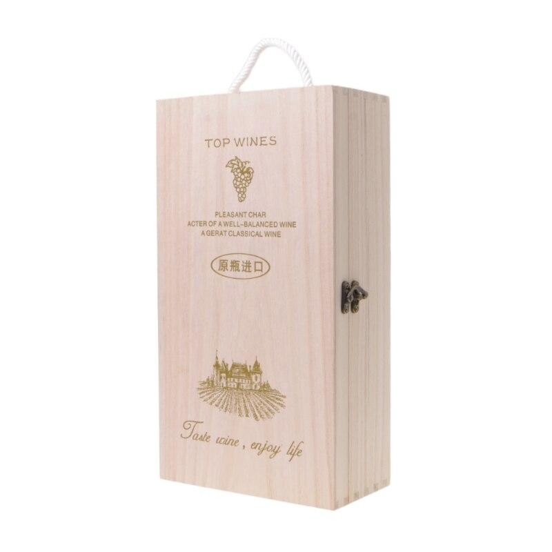Fabricantes de Madeira de Pinho Caixa de Embalagem de Presente Alta Qualidade Vinho Tinto 72xf