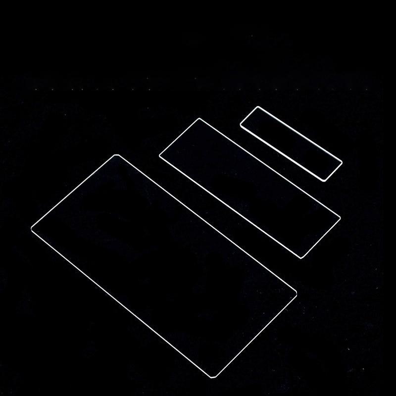 Скользящее стекло из кварцевого стекла, супертонкая скользящая скользка 0,1 мм 0,8 квадрата, прямоугольная часть, устойчивая к высоким темпер...