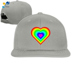 Yellowpods Rainbow Heart Men's Relaxed Medium Profile Adjustable Baseball Cap