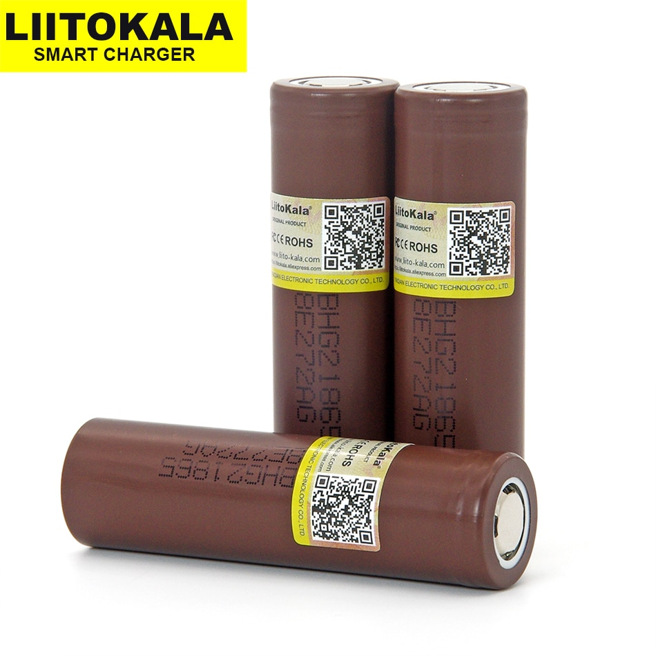 1-20PCS  Liitokala New 18650 Battery HG2 3000mAh 3.6V  lithium continuous discharge 20A dedicated electronic power  battery