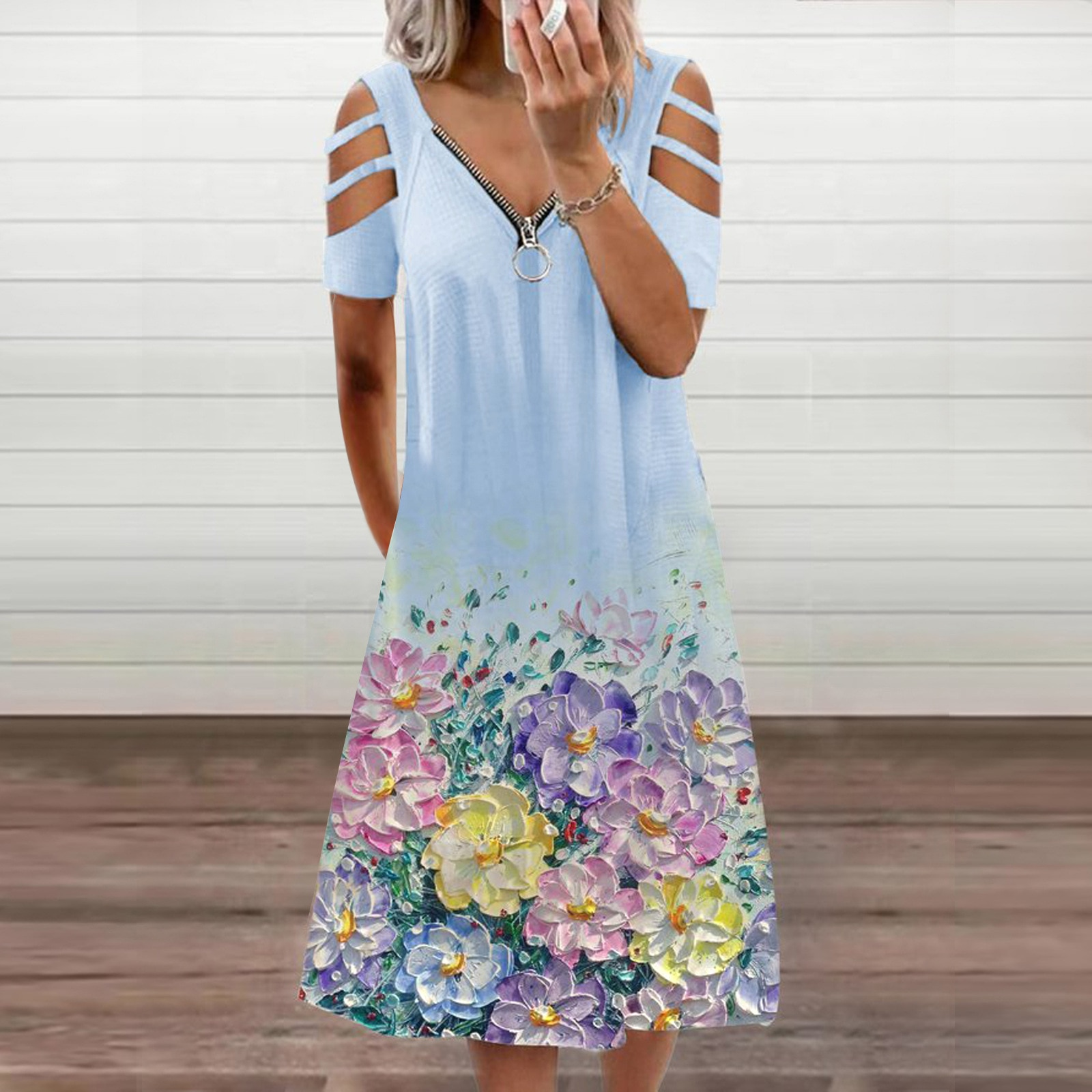Women Dresses Summer Sexy V Neck Floral Print Boho Beach Dress Women Casual Clothes Elegant Party Dresses For Ladies Sundress