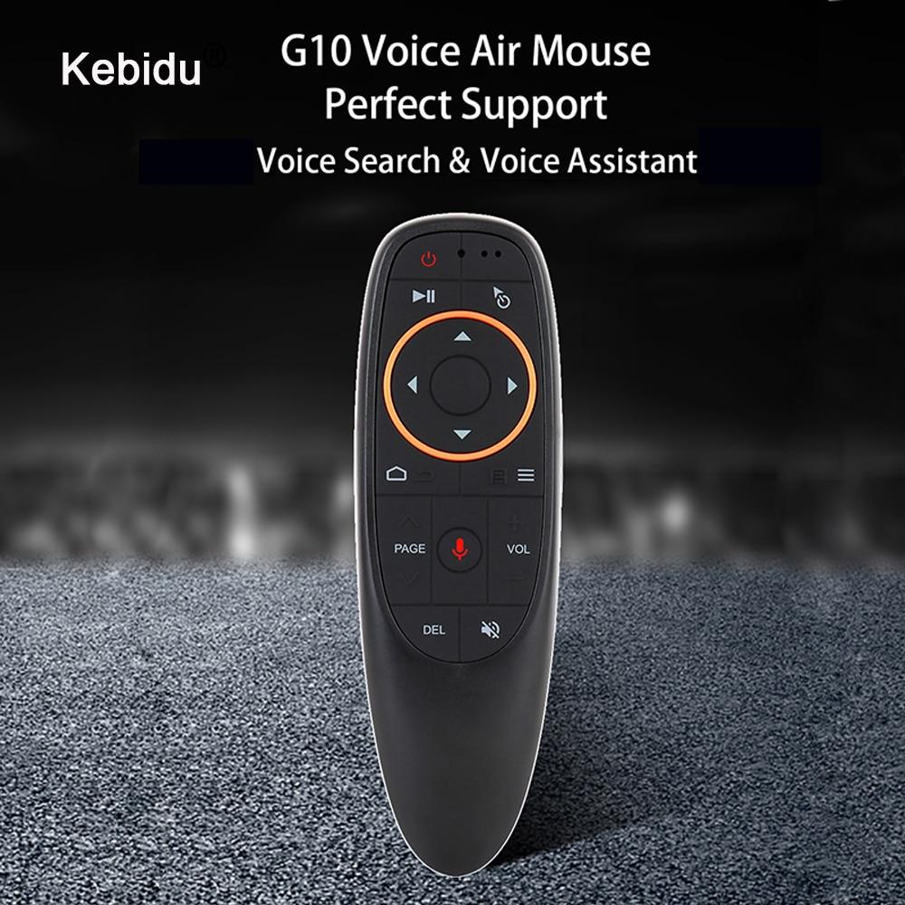 Kebidu 2,4G USB приемник G10s для Gyro Sensing Mini беспроводной умный пульт дистанционного управления G10 Air Mouse Голосовое управление для Android TV BOX