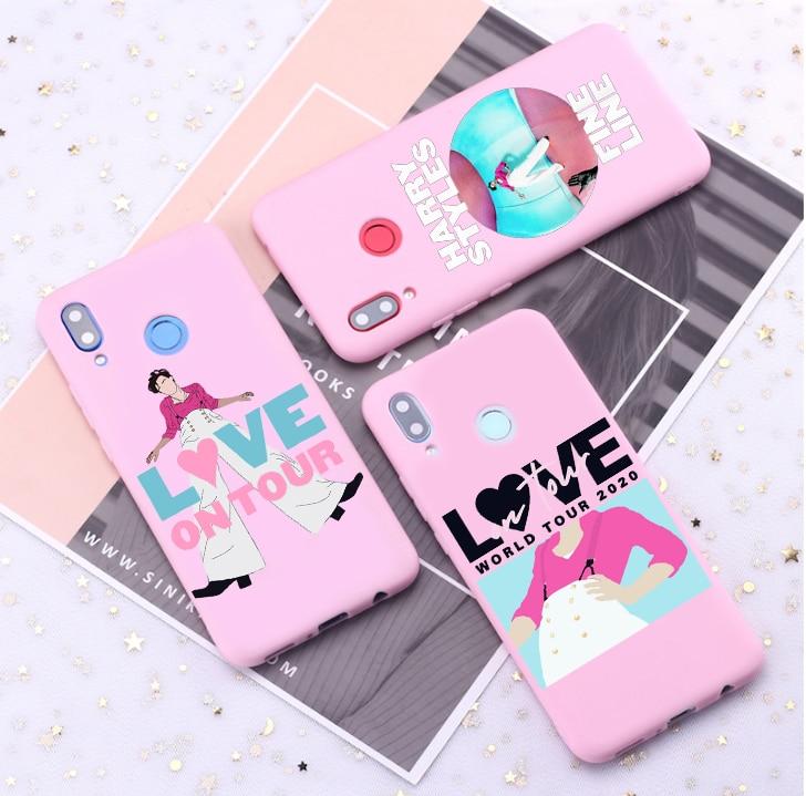 Harry estilos línea fina amor en Tour caja de color caramelo para Huawei P10 P20 P30 MATE 10 20 honor 8 9 10 funda de silicona suave inteligente