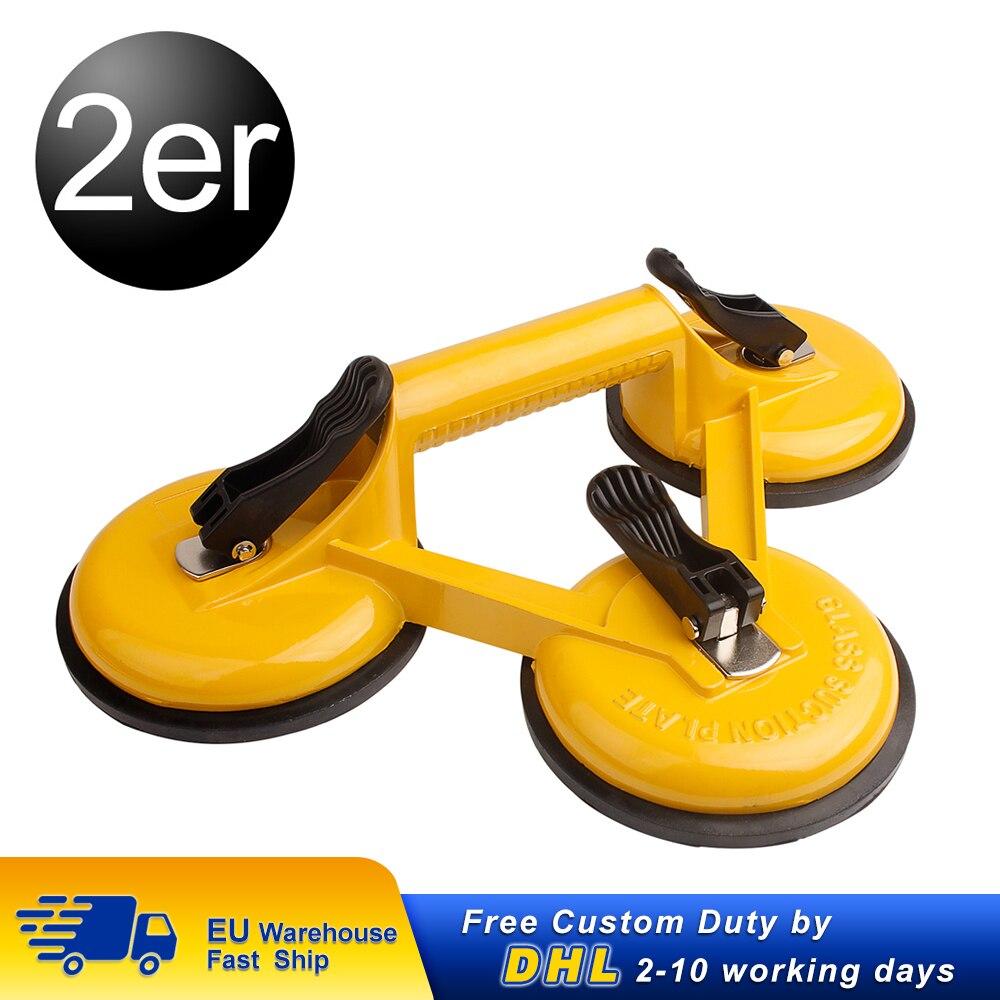 2 stücke 120kg Vakuum Saugnapf Glas Heber Saug Doppel Tassen Dent Remover Sucker Haus Entferner Tragen Werkzeuge Auto saugnapf