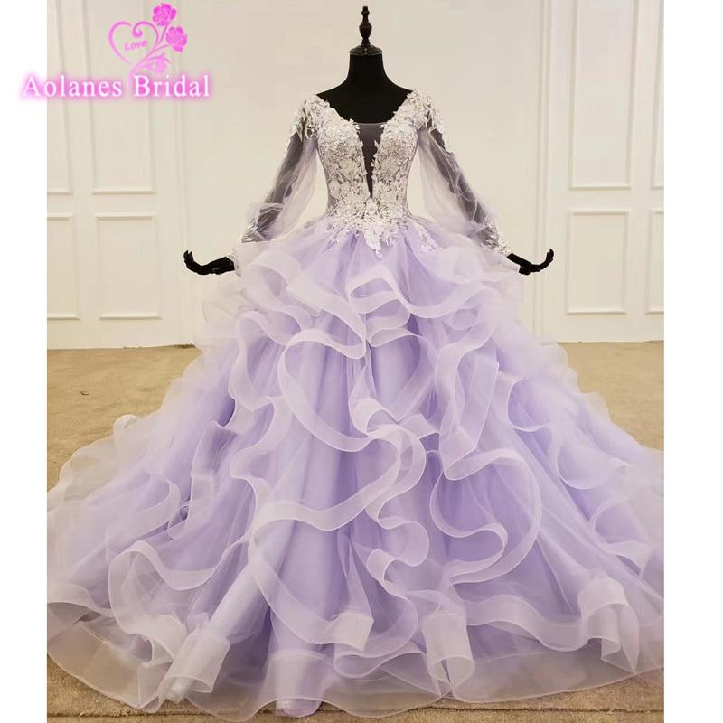 فستان زفاف باللون البنفسجي ، موديل 2020 ، فستان سهرة ، بدون أكمام ، مطرز بالترتر ، لامع ، ناعم ، 16