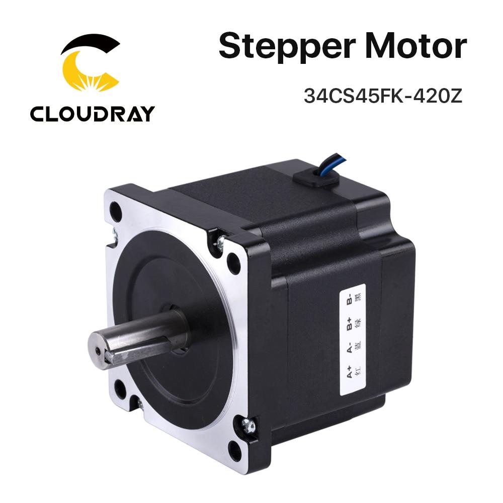 Nema 34 motor deslizante 119mm 4.5nm 4.2a com eixo da chave do freio 2 fase do motor para a máquina de gravura do corte da espuma da moagem do laser do cnc