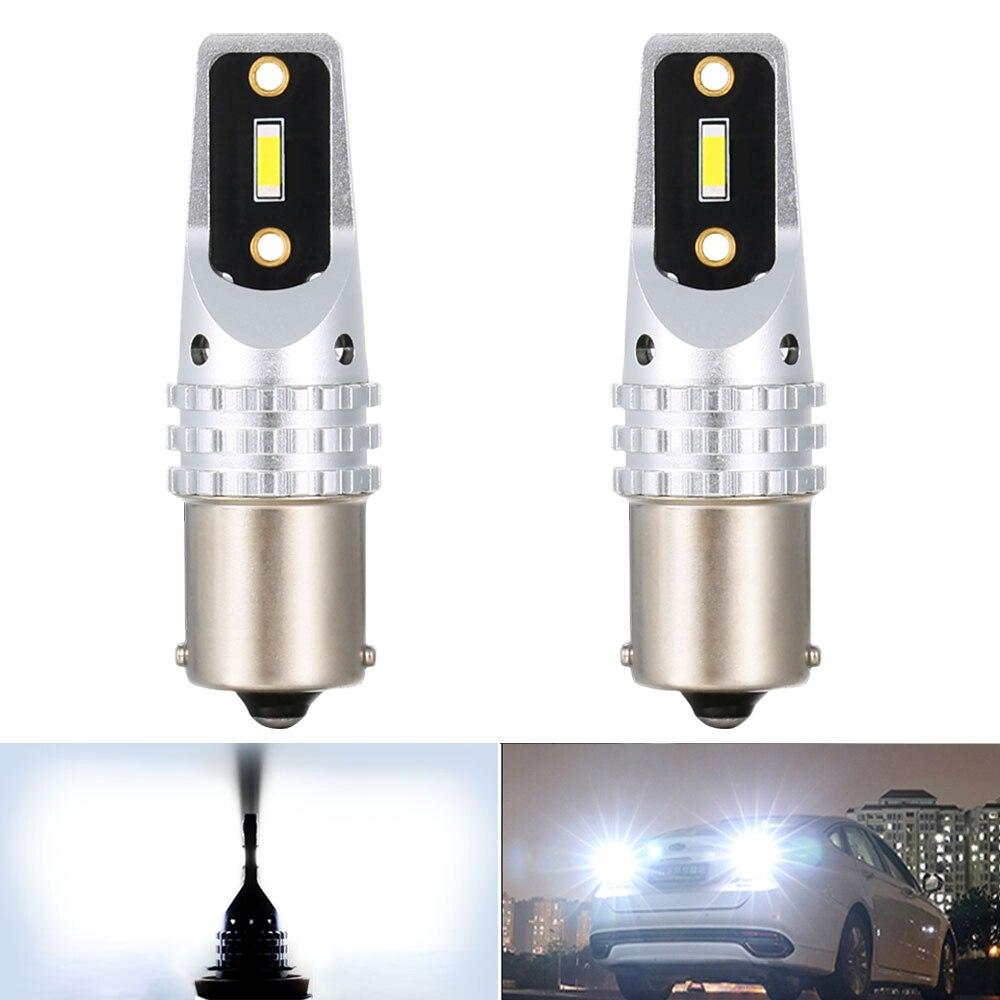2x p21w 1156 ba15s super brilhante 1800lm led auto reverso lâmpada drl para vw volkswagen passat b6 b5 b7 scirocco golf 5 4 mk7 t5 polo