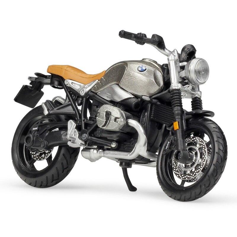 1/18 Bmw R Nine T Scrambler Mini aleación modelos de motocicleta Diecast simulación Miniatura de metal para motocicleta escultura juguetes colección