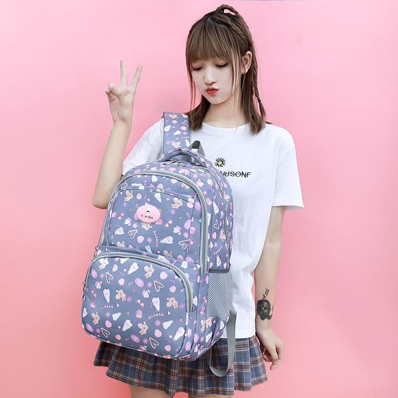 2020 new girl backpacks fashion print flower school book bag big capacity women backpack college day