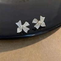 changyi 2021 trend women jewelry earrings shiny bow stud earrings elegant party earrings for lady beat gift