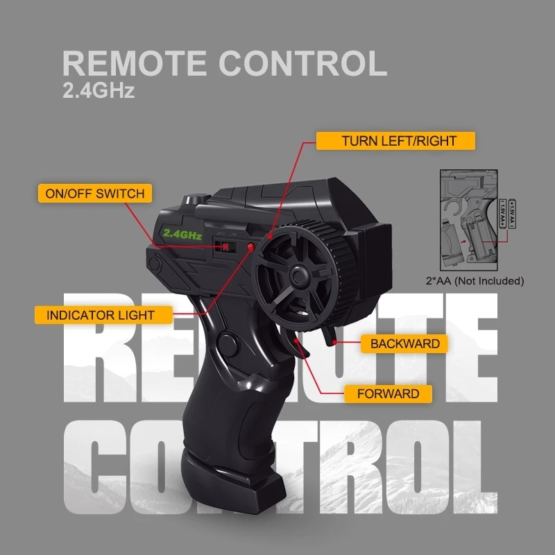 RC Metal Car 1/24 4WD RC Drift Racing Car 2.4G Off Road Radio Remote Control Vehicle Electronic Remo Hobby Toys enlarge