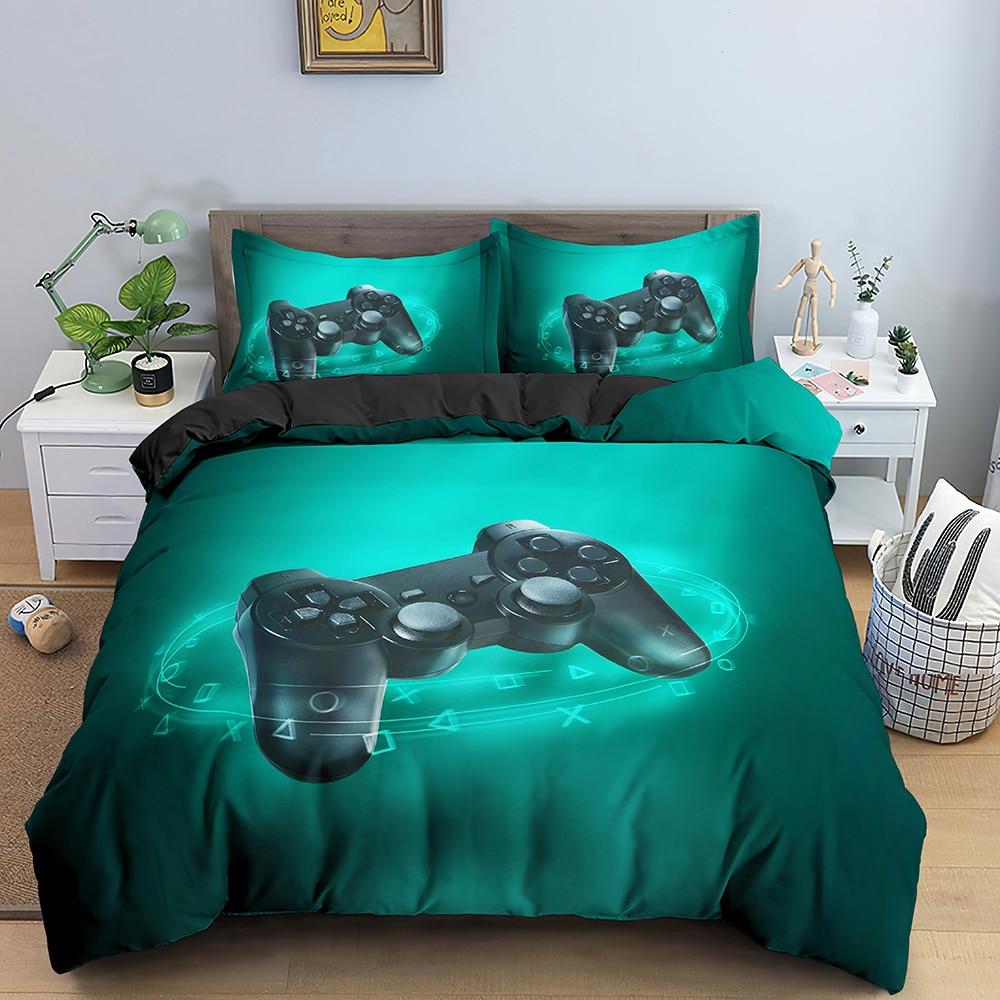 لعبة طقم سرير الأطفال حاف مجموعة غطاء Gamer حاف الغطاء مع المخدة المعزي غطاء فرش أطفال طقم سرير الملكة