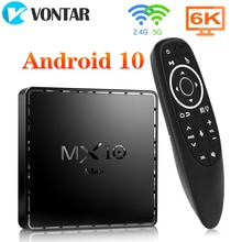 VONTAR MX10 Mini Smart TV Box Android 10 4G 64GB Support 4K wifi Google Assistant vocal Youtube lecteur multimédia TVBOX décodeur
