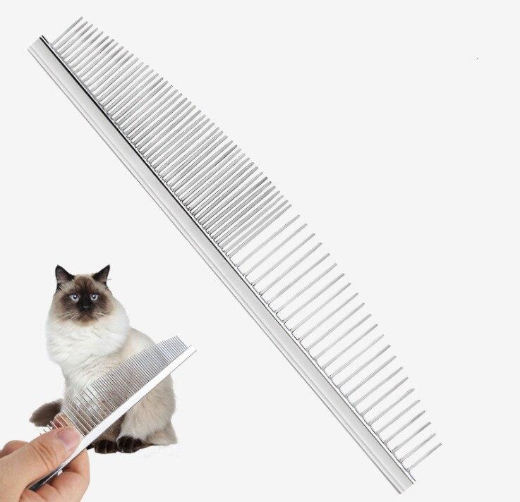 Pet gato cão arco em forma de pente fino dente pente de cabelo para cabelo curto longo pet cão grooming escova de cabelo nós removedor escova