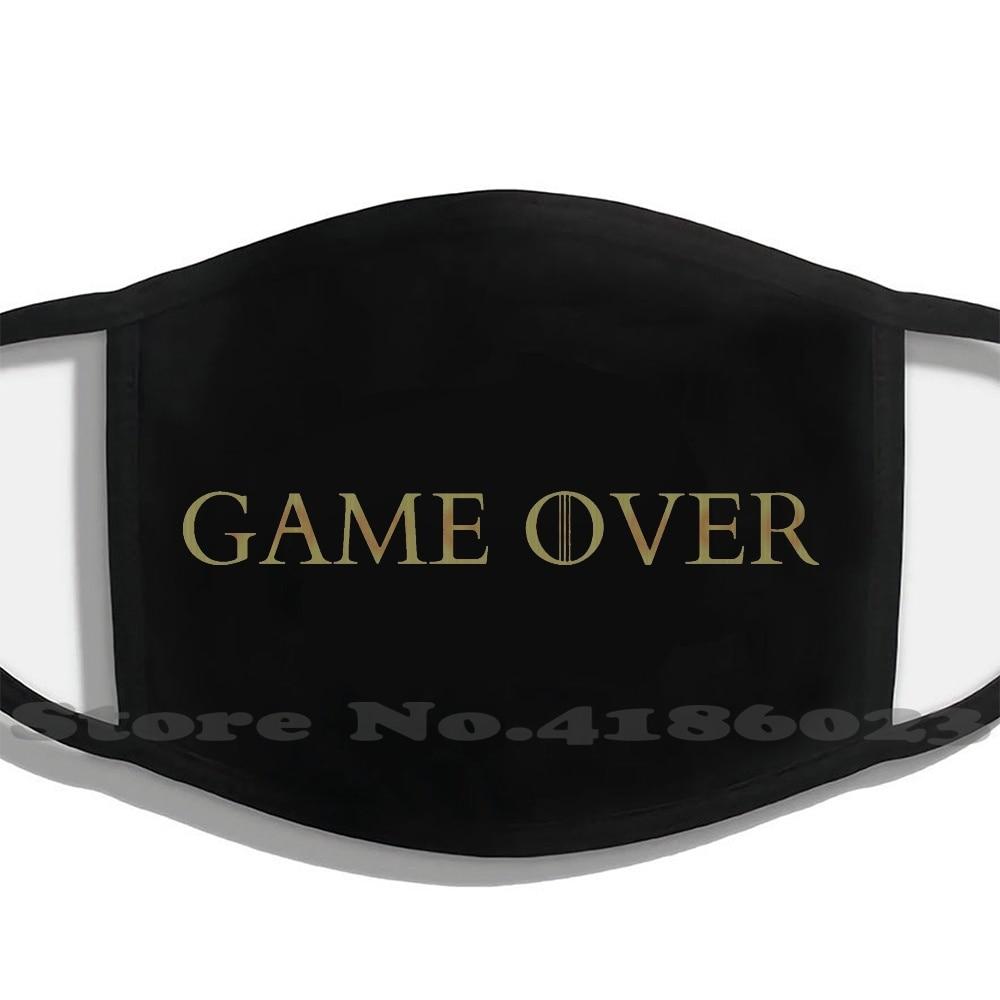 Game Over Men Women Washable Black Masks Face Mask Got Video Game Telltale Forester Whitehill Hbo Tv Show Game Over A Jon Snow