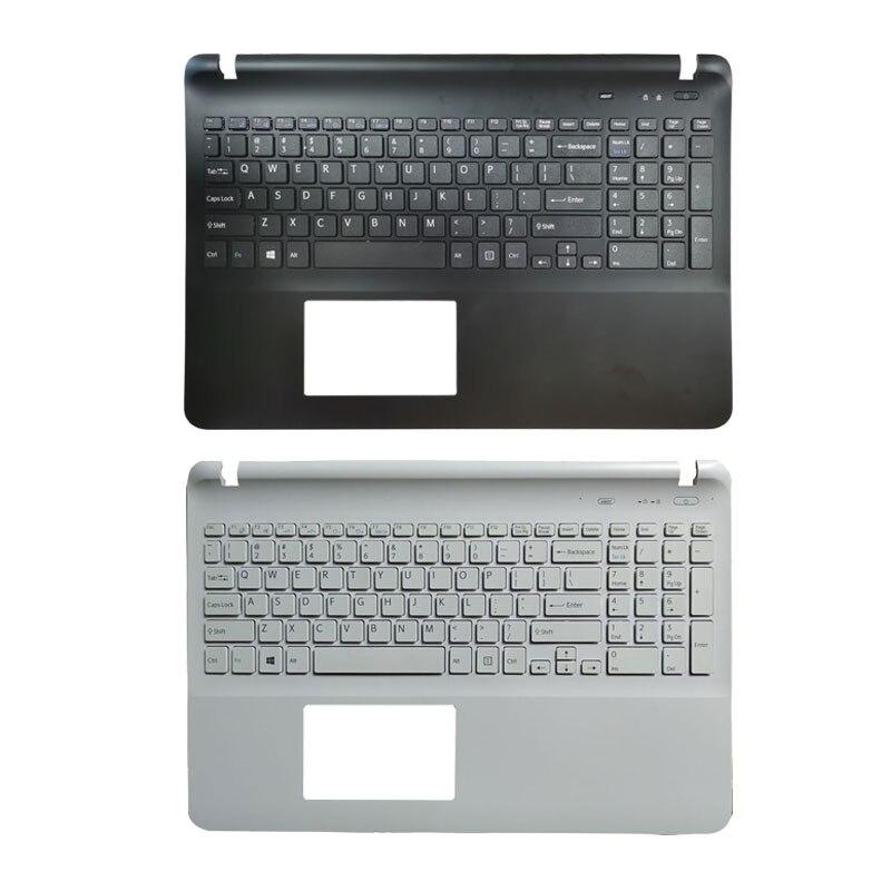 لوحة مفاتيح أمريكية للكمبيوتر المحمول ، مع غطاء علوي لجهاز sony SVF1521AGXB SVF154 SVF153A1YM SVF153B1Y SVF1521T2EB