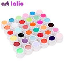36 couleurs UV Gel ensemble dongles Pure couverture couleur décor pour ongles Art conseils conception Extension vernis laque manucure outils de bricolage ensemble entier